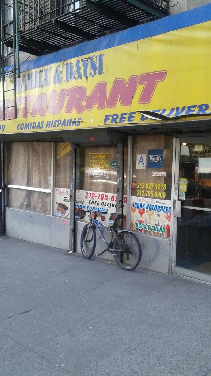 Marilu & Daysi   restaurant   206 Audubon Ave, New York, NY 10033, USA   2127956909 OR +1 212-795-6909