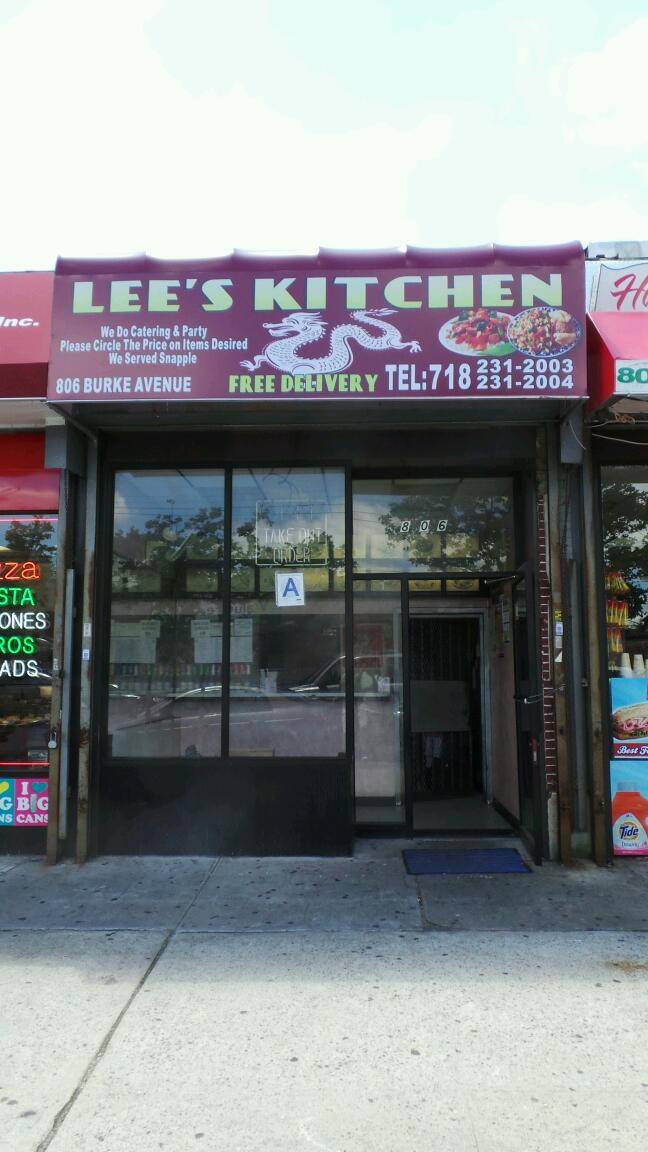 Lees Chinese Kitchen | meal delivery | 806 Burke Ave, Bronx, NY 10467, USA | 7182312003 OR +1 718-231-2003