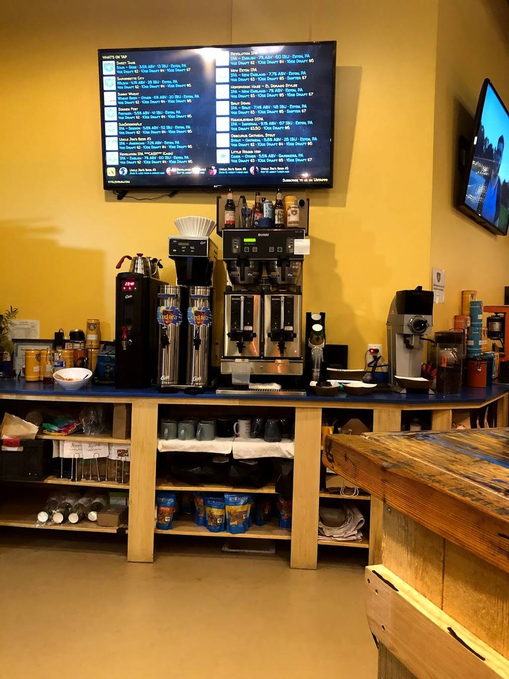 Stolen Sun Craft Brewing and Roasting Company   cafe   342 Pottstown Pike Suite B, Exton, PA 19341, USA   4848794161 OR +1 484-879-4161