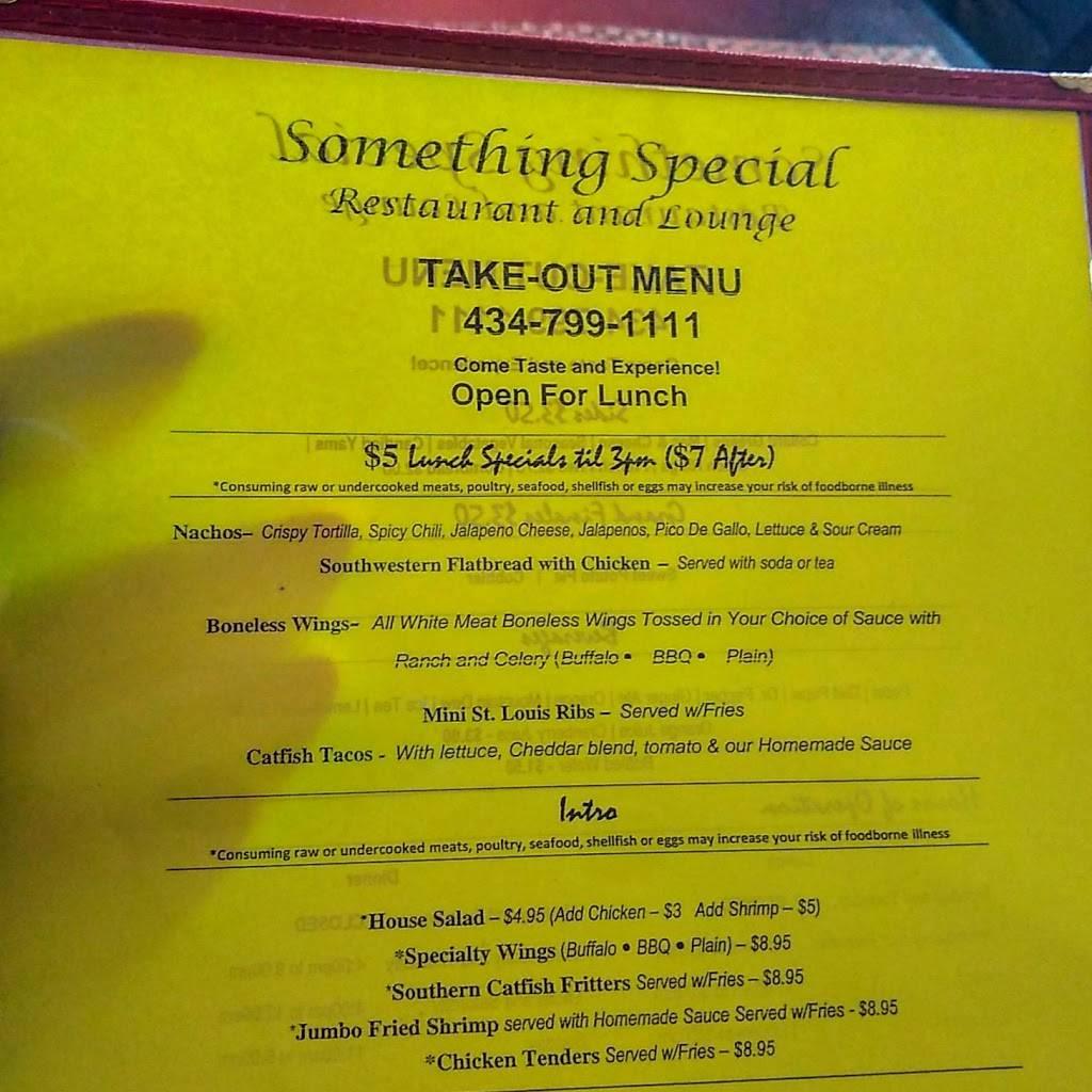 Something Special Restaurant and Lounge | restaurant | 401 S Ridge St, Danville, VA 24541, USA | 4347991111 OR +1 434-799-1111