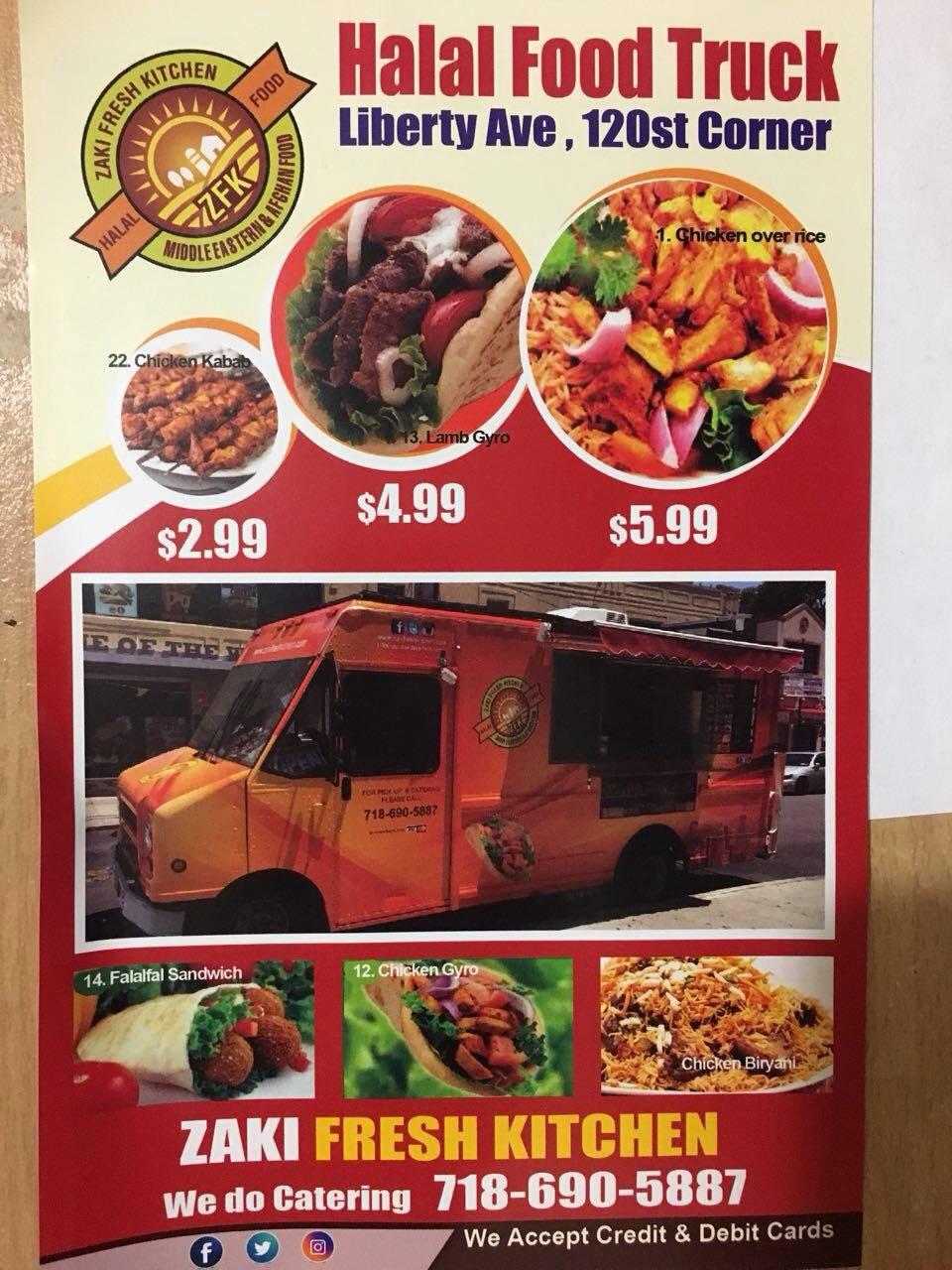 Zaki Fresh Kitchen (Halal Food Truck) | restaurant | 11918 Liberty Ave, South Richmond Hill, NY 11419, USA | 7186905887 OR +1 718-690-5887