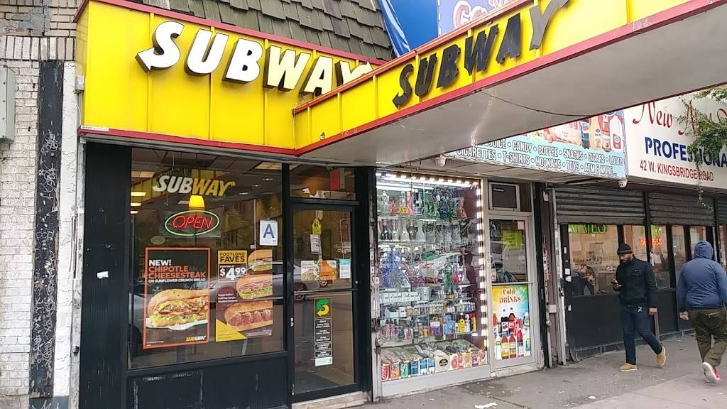 Subway Restaurants   restaurant   38 W Kingsbridge Rd, Bronx, NY 10468, USA   3472977287 OR +1 347-297-7287
