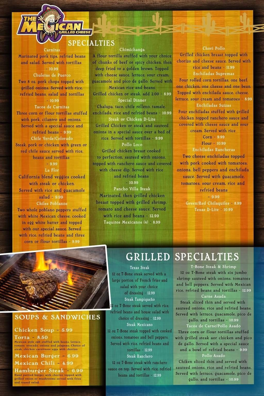 The Mexican Grilled Cheese | restaurant | 333 Broadway, Hartsville, TN 37074, USA | 6156803166 OR +1 615-680-3166