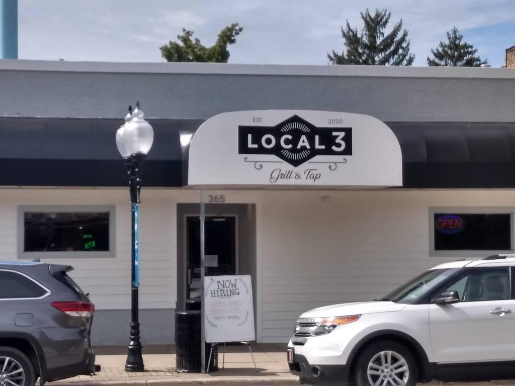Local 3 Grill & Tap | restaurant | 365 N Main St, Watervliet, MI 49098, USA | 2692017219 OR +1 269-201-7219