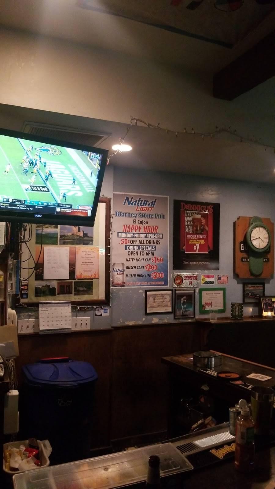 Blarney Stone Pub   restaurant   388 N 2nd St, El Cajon, CA 92021, USA   6193285403 OR +1 619-328-5403