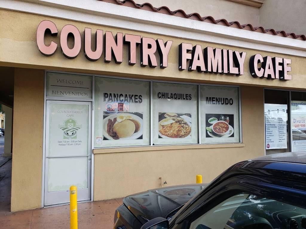 Country Family Cafe   cafe   1738 S Euclid St, Anaheim, CA 92802, USA   7149565341 OR +1 714-956-5341