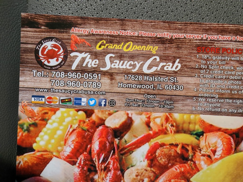 The Saucy Crab Homewood   restaurant   17628 S Halsted St, Homewood, IL 60430, USA   7089600591 OR +1 708-960-0591