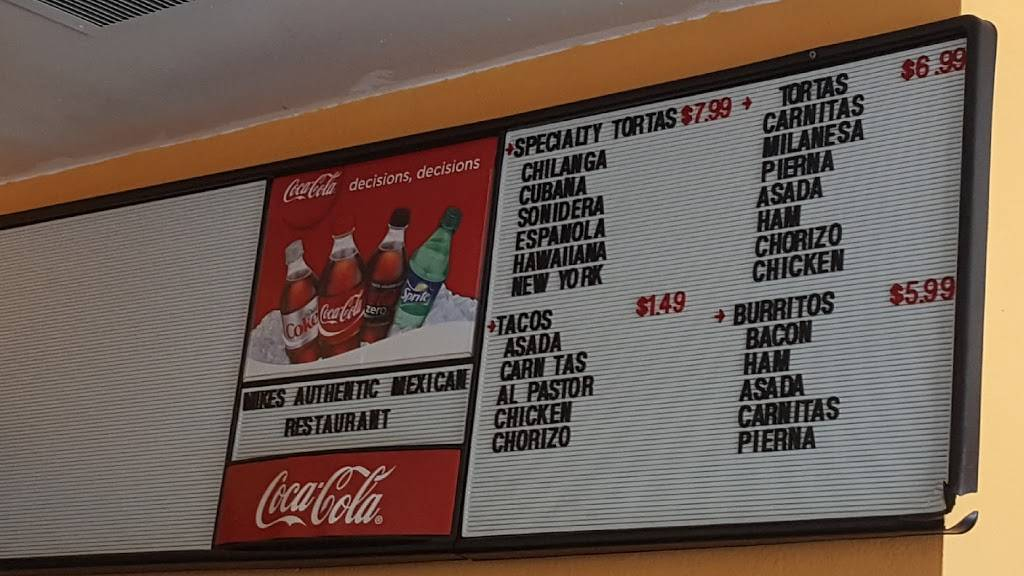 Mikes Authentic Mexican Food | restaurant | 430 W Whittier Blvd, La Habra, CA 90631, USA | 5626944456 OR +1 562-694-4456