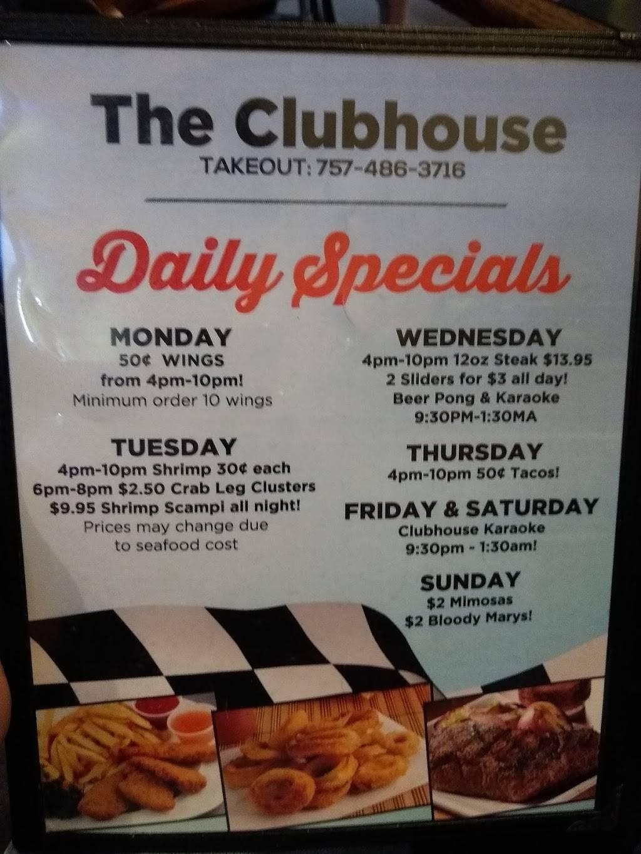 Clubhouse Bar & Grill   restaurant   3208 Holland Road # 101, Virginia Beach, VA 23453, USA   7574683716 OR +1 757-468-3716