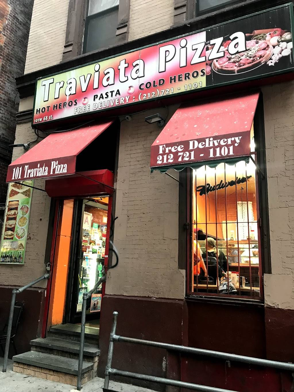 Traviata Pizza | meal delivery | 101 W 68th St, New York, NY 10023, USA | 2127211101 OR +1 212-721-1101