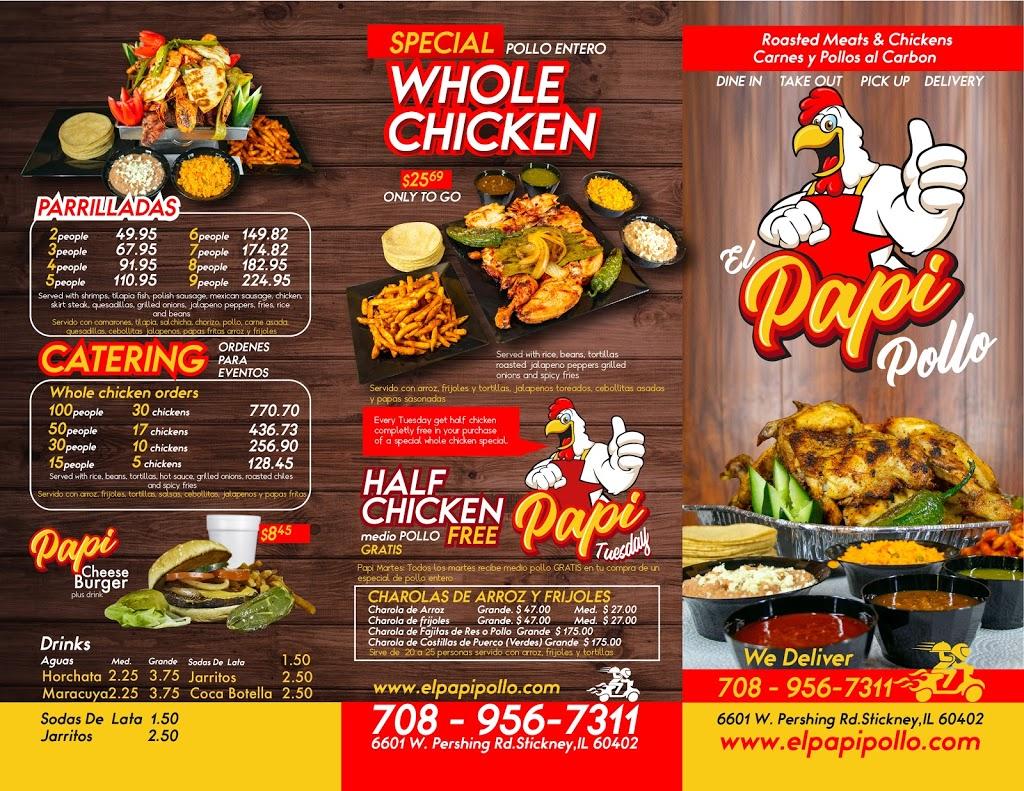El Papi Pollo | restaurant | 6603 W Pershing Rd, Stickney, IL 60402, USA | 7089567311 OR +1 708-956-7311
