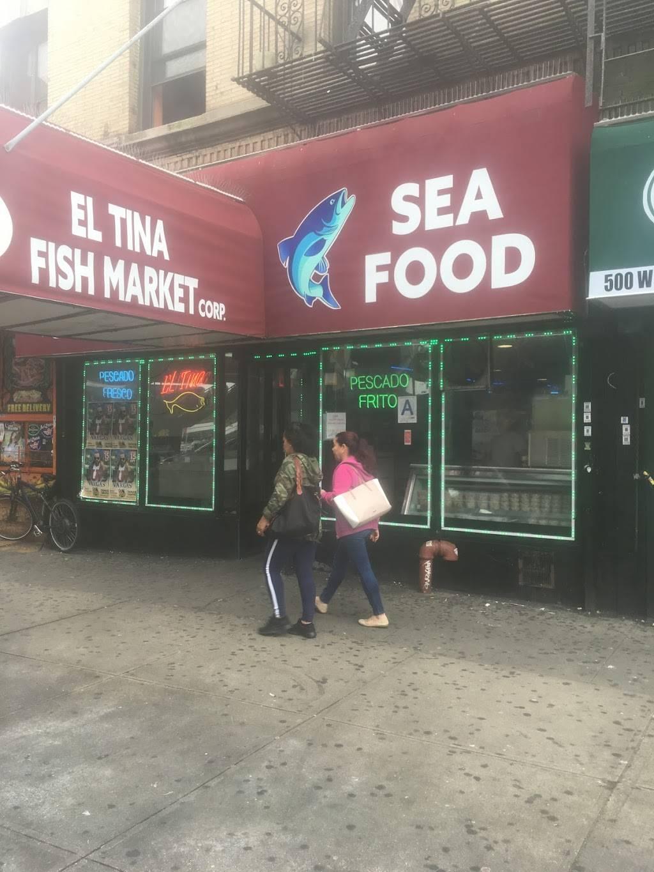 Tina Fish Market | restaurant | 500 W 207th St, New York, NY 10034, USA | 2125675031 OR +1 212-567-5031