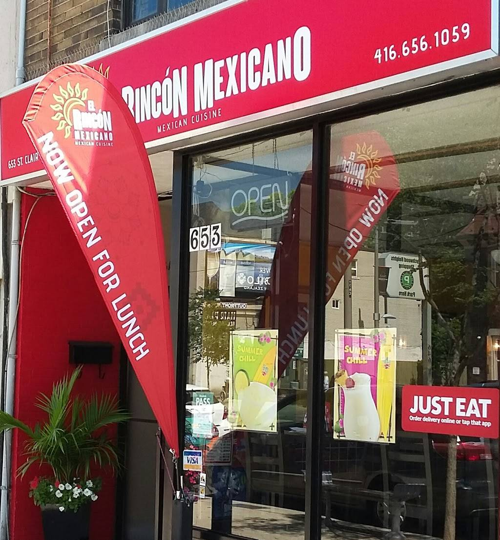 El Rincon Mexicano   restaurant   653 St Clair Ave W, Toronto, ON M6C 1A7, Canada   4166561059 OR +1 416-656-1059