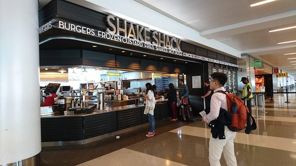Shake Shack   meal takeaway   Terminal 4 / Gate B23 & B37, Jamaica, NY 11430, USA   7187514760 OR +1 718-751-4760
