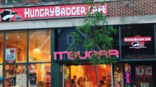 HungryBadger Cafe   restaurant   above ITSUGAR across Five Guys, 540 State St, Madison, WI 53703, USA   6085011468 OR +1 608-501-1468