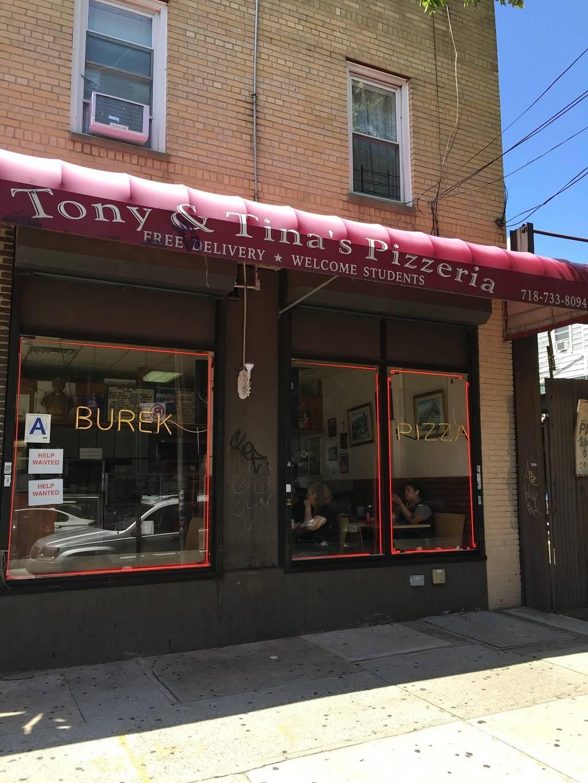 Tony & Tinas Pizzeria | restaurant | 2483 Arthur Ave, Bronx, NY 10458, USA | 7187338094 OR +1 718-733-8094