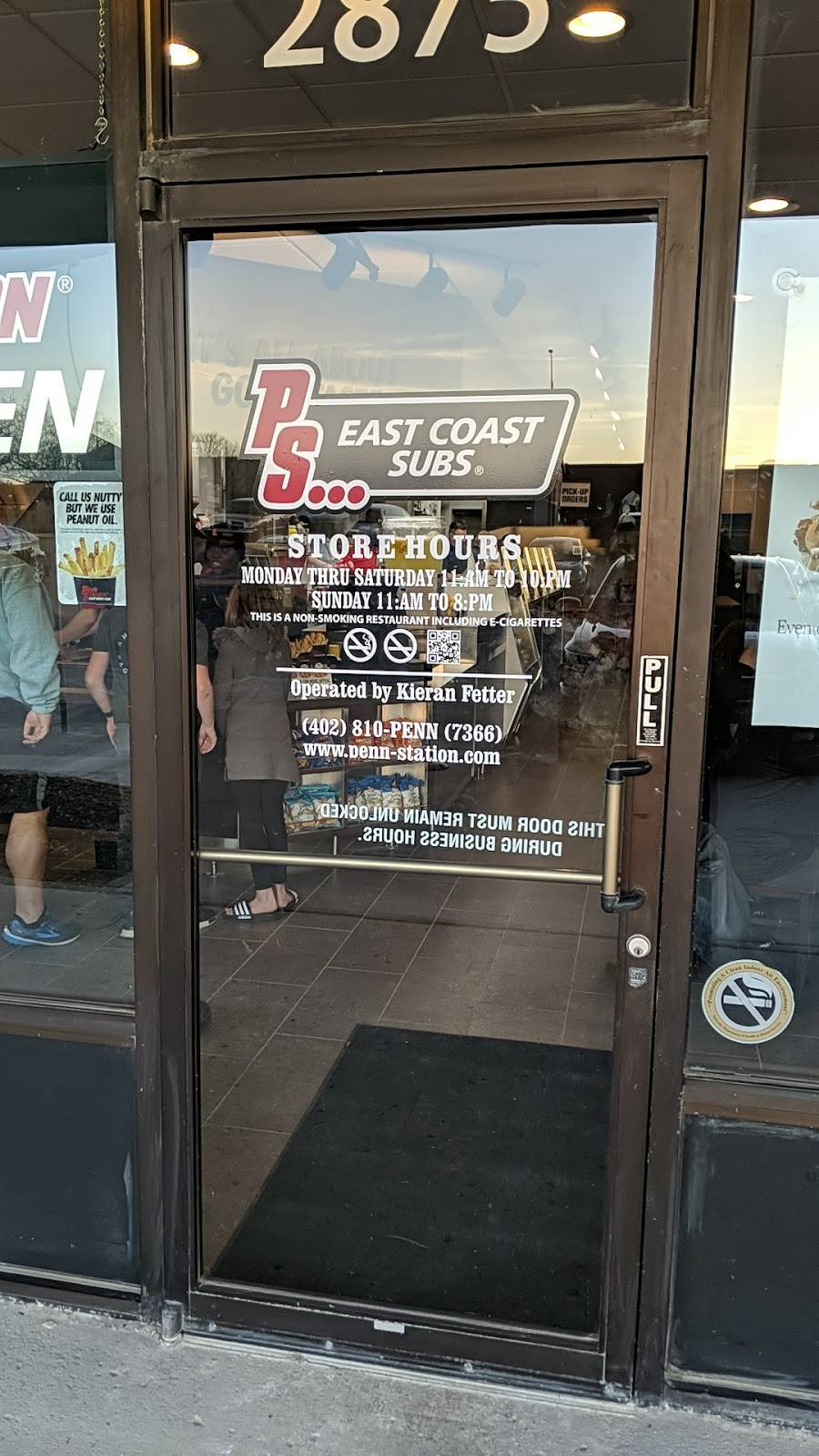 Penn Station East Coast Subs | restaurant | 2875 S 168th St, Omaha, NE 68130, USA | 4028107366 OR +1 402-810-7366