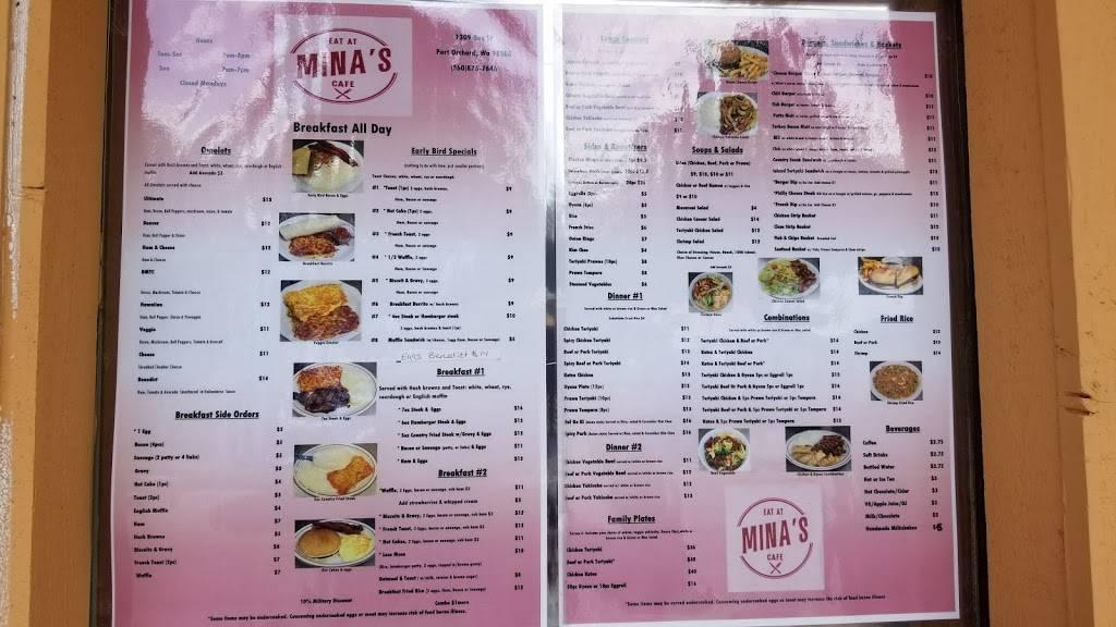Mina S Cafe Restaurant 1309 Bay St Port Orchard Wa 98366 Usa