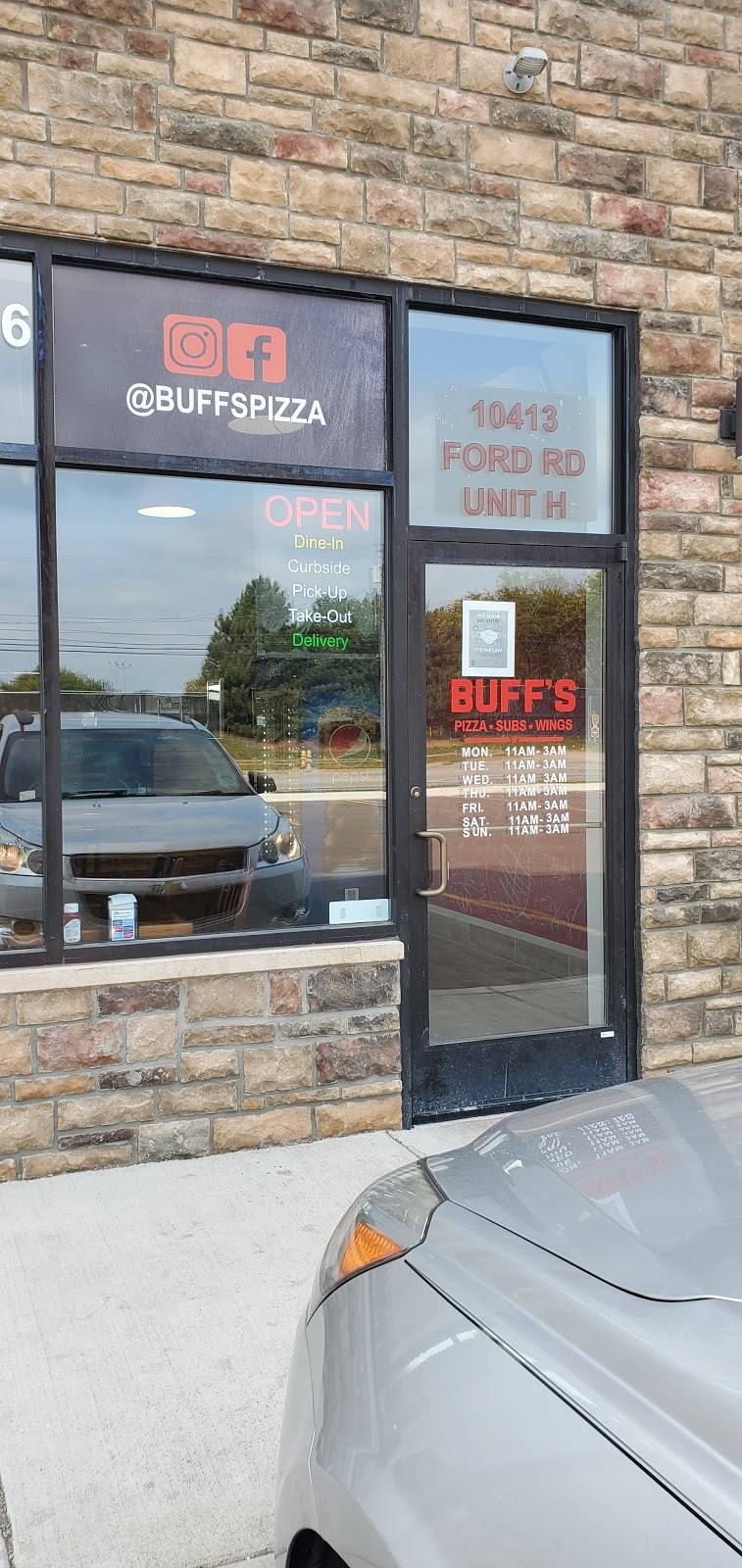 Buffs Pizza | restaurant | 10413 Ford Rd Unit H, Dearborn, MI 48126, USA | 3133319006 OR +1 313-331-9006