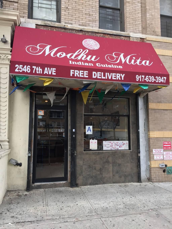 Modhu Mita | restaurant | 2546 Adam Clayton Powell Jr Blvd, New York, NY 10039, USA | 9176393947 OR +1 917-639-3947