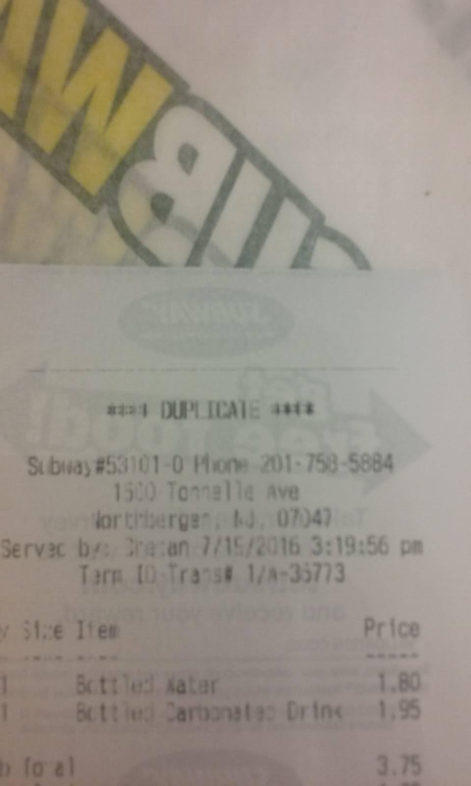 Subway Restaurants   restaurant   1600 Tonnelle Ave, North Bergen, NJ 07047, USA   2017585884 OR +1 201-758-5884