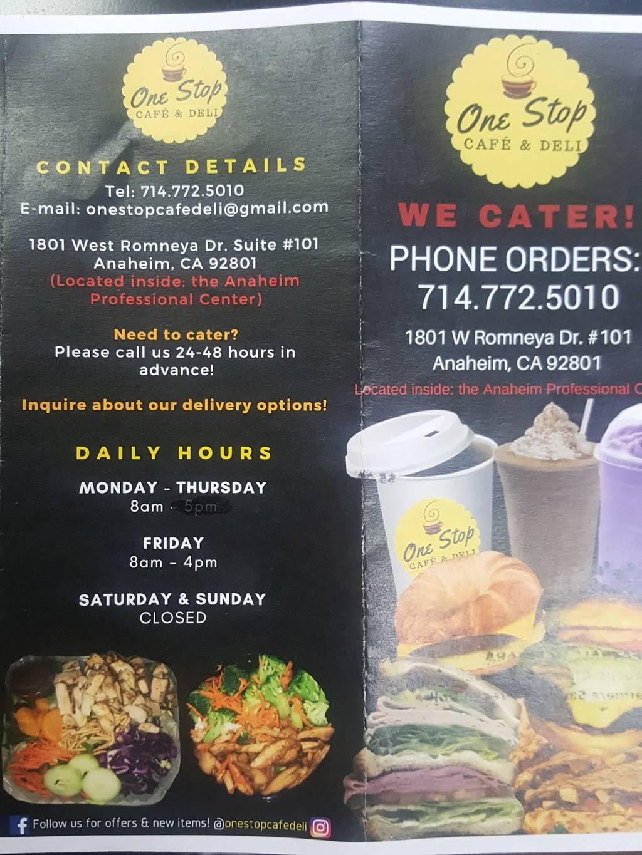 One Stop Snack Shop | restaurant | 1801 W Romneya Dr # 101, Anaheim, CA 92801, USA | 7147725010 OR +1 714-772-5010