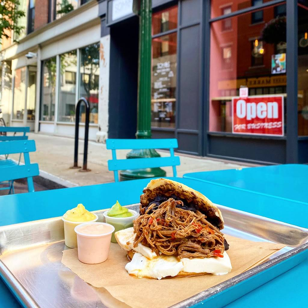 Somos Handcrafted Arepas | restaurant | 63 Orange St, New Haven, CT 06510, USA | 2038915592 OR +1 203-891-5592