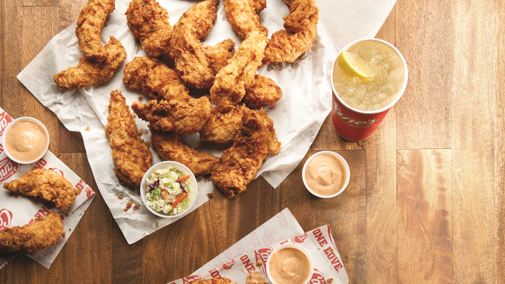 Raising Canes Chicken Fingers   meal takeaway   3023 St Rose Pkwy, Henderson, NV 89052, USA   7257773644 OR +1 725-777-3644