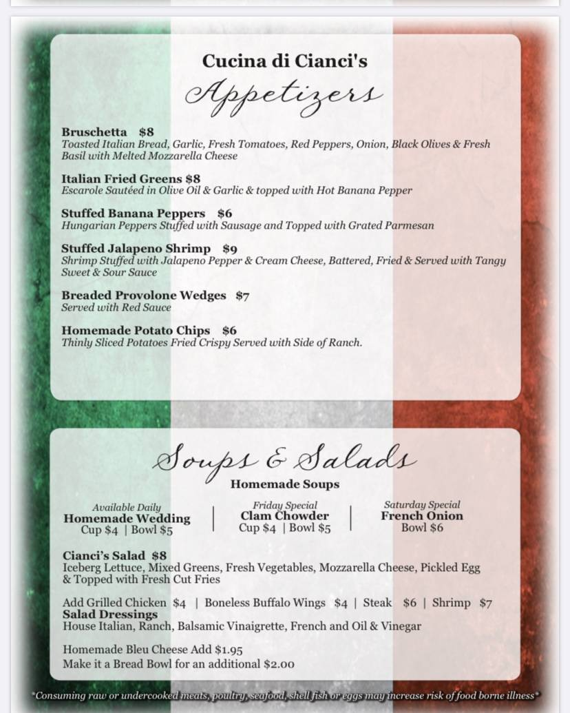Cucina di Ciancis | restaurant | 489 S Hermitage Rd, Hermitage, PA 16148, USA | 7243086199 OR +1 724-308-6199