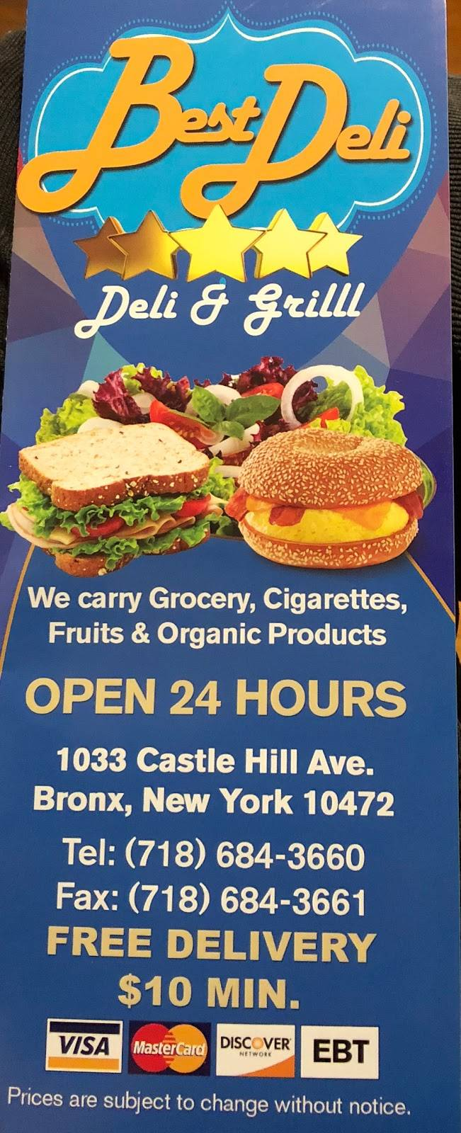 Best Deli & Grill | restaurant | 1033 Castle Hill Ave, Bronx, NY 10472, USA | 7186843660 OR +1 718-684-3660