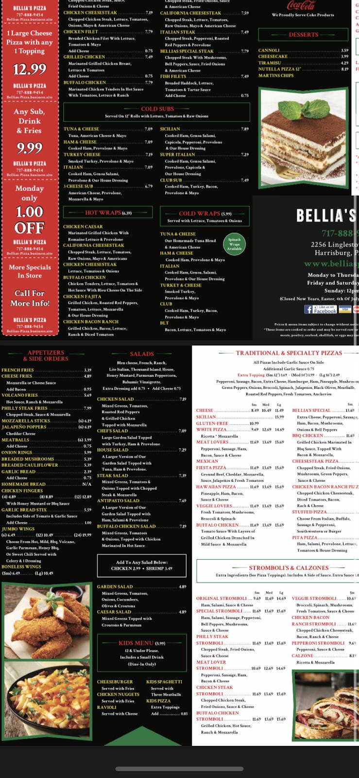 Bellias pizza | restaurant | 2256 Linglestown Rd, Harrisburg, PA 17110, USA | 7178889454 OR +1 717-888-9454