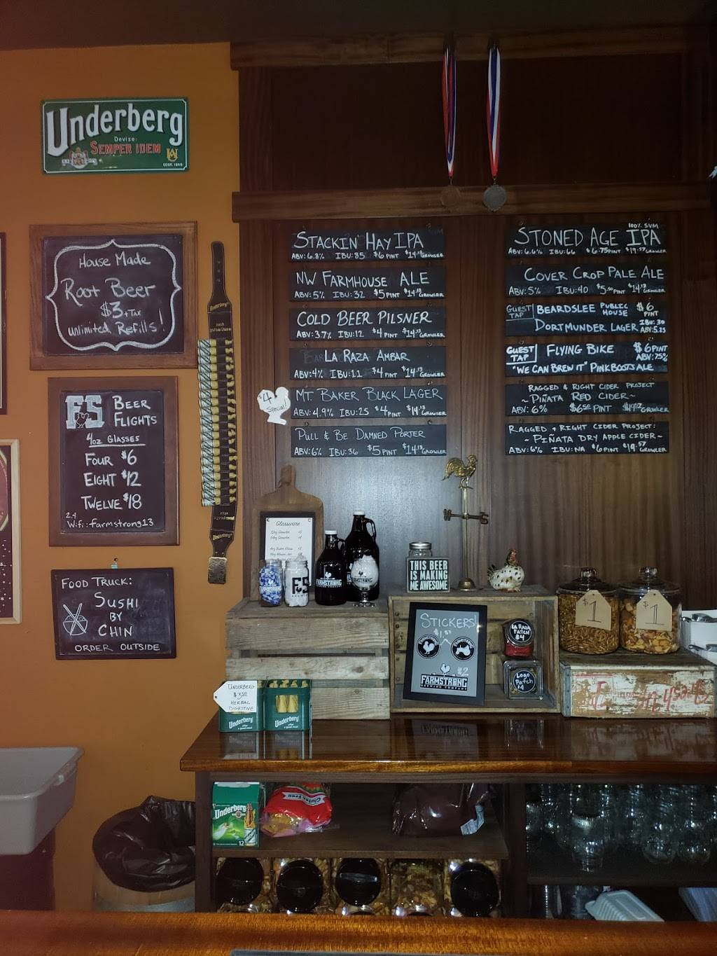Farmstrong Brewing + Taproom | restaurant | 110 Stewart Rd, Mt Vernon, WA 98273, USA | 3608738852 OR +1 360-873-8852