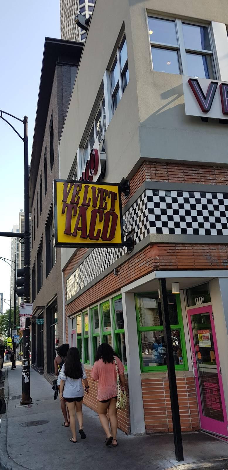 Velvet Taco   restaurant   1110 N State St, Chicago, IL 60610, USA   3127632654 OR +1 312-763-2654