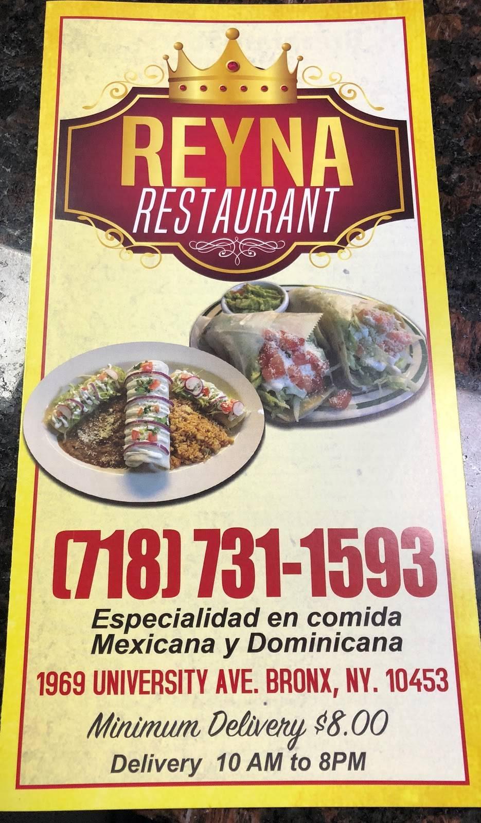 Reina Restaurant | restaurant | 1969 Dr Martin Luther King Jr Blvd, Bronx, NY 10453, USA | 7187311593 OR +1 718-731-1593