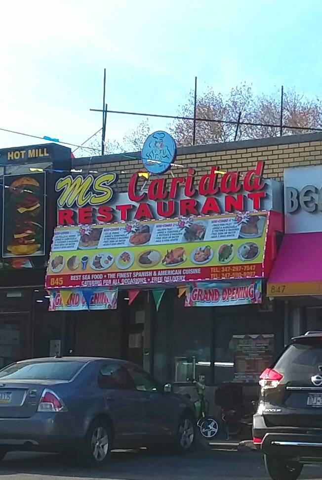 MS Caridad | restaurant | 845 Sound View Ave, Bronx, NY 10473, USA | 3472977547 OR +1 347-297-7547