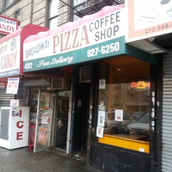 New Broadway Pizza Coffee Shop | restaurant | 4312 Broadway, New York, NY 10033, USA | 2129276250 OR +1 212-927-6250