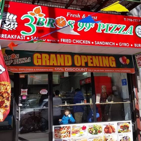 3 Bros 99 Cent Pizza | restaurant | 2503 30th Ave, Astoria, NY 11102, USA | 7187777133 OR +1 718-777-7133