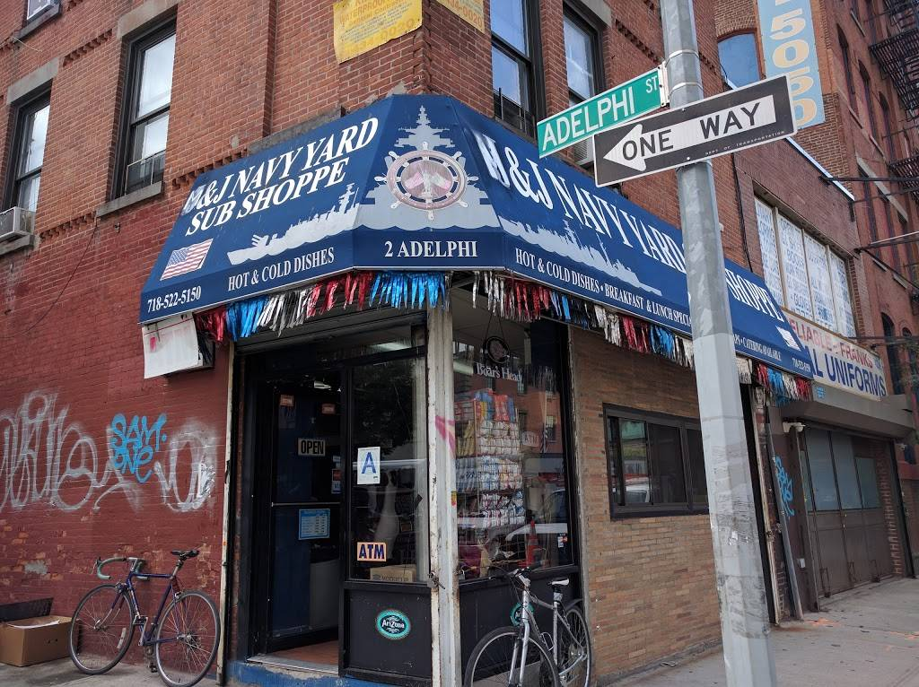 J&J Navy Yard Sub Shoppe   restaurant   108 Flushing Ave, Brooklyn, NY 11205, USA   7185225150 OR +1 718-522-5150