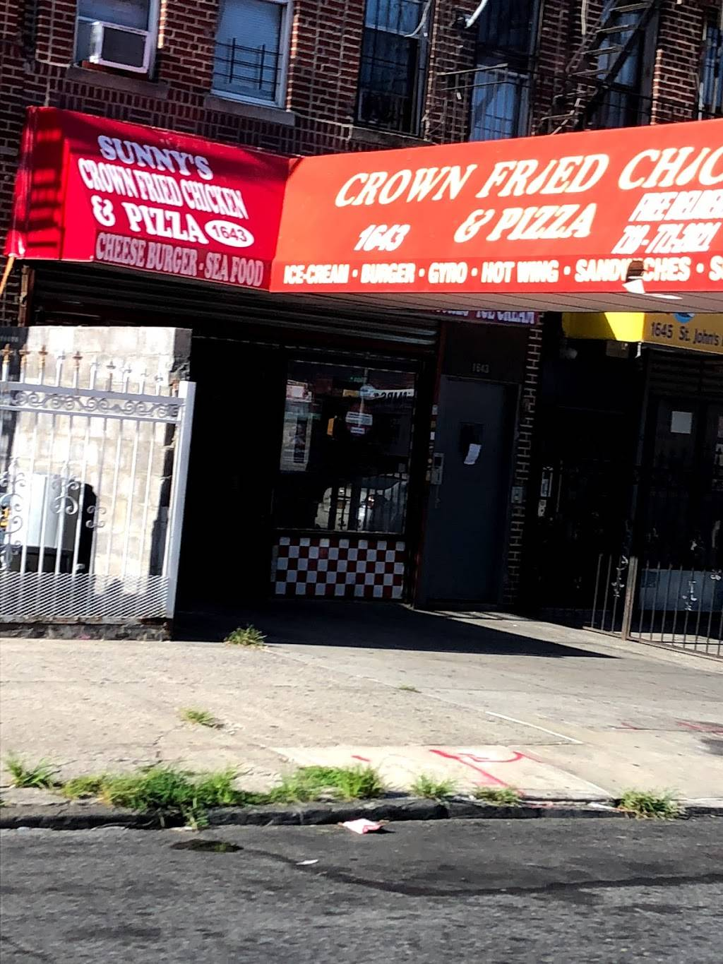 Crown Fried Chicken   restaurant   1643 St Johns Pl, Brooklyn, NY 11233, USA   7187712021 OR +1 718-771-2021