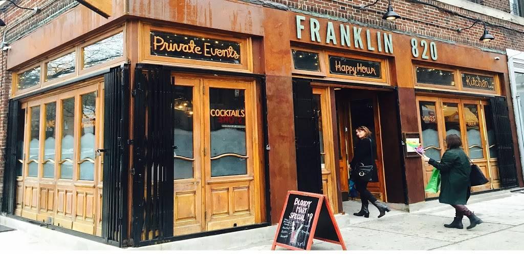 FRANKLIN820   restaurant   820 Franklin Ave, Brooklyn, NY 11225, USA   7187084113 OR +1 718-708-4113