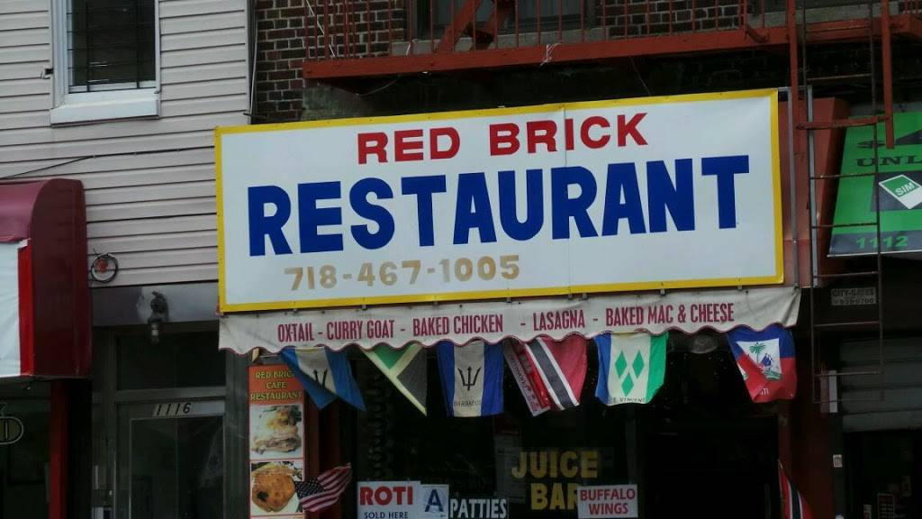 Red Brick Cafe   restaurant   1114 Nostrand Ave, Brooklyn, NY 11225, USA   7184671005 OR +1 718-467-1005