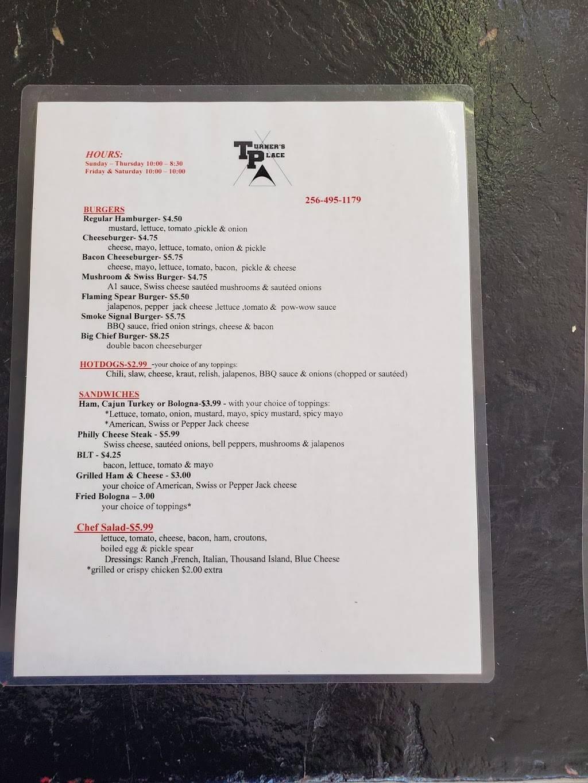 Turners Place | restaurant | 50842 AL-277, Bridgeport, AL 35740, USA | 2564951179 OR +1 256-495-1179