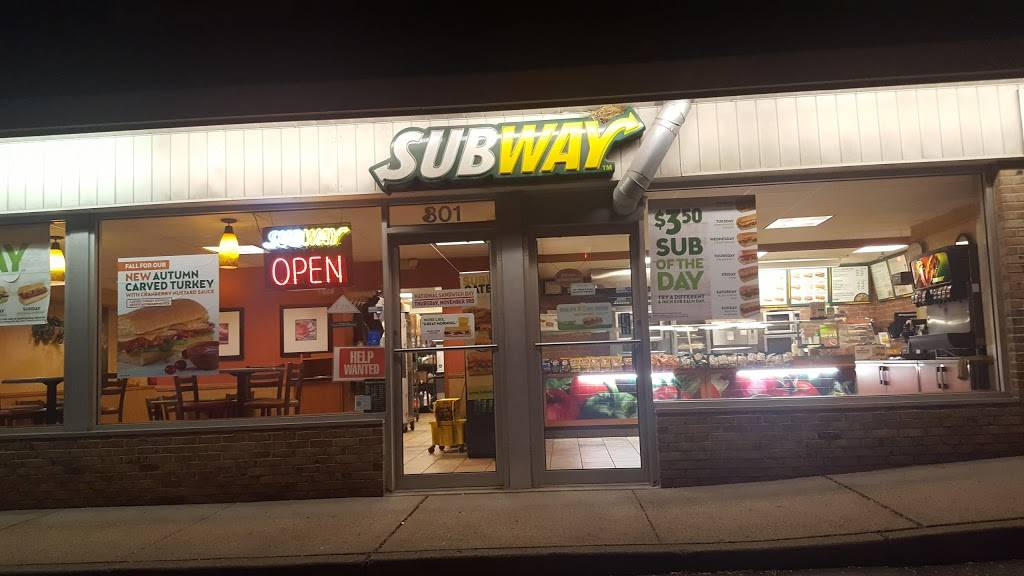 Subway Restaurants 801 Franklin Ave Unit 7 Franklin Lakes