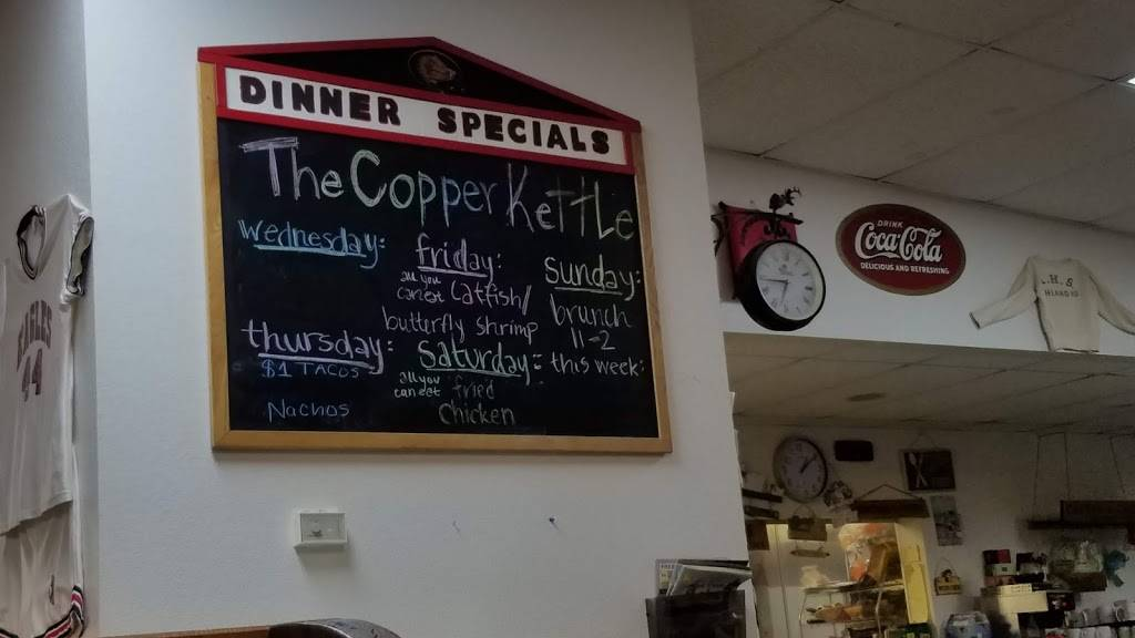 Copper Kettle | restaurant | 508 E Liberty Ln, Ashland, MO 65010, USA | 5736572722 OR +1 573-657-2722