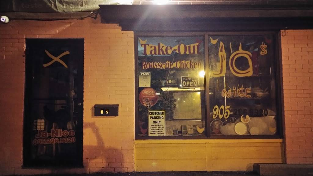 Ja-Nice Takeout   restaurant   12 Tisdale St N, Hamilton, ON L8L 5M2, Canada   9052969320 OR +1 905-296-9320