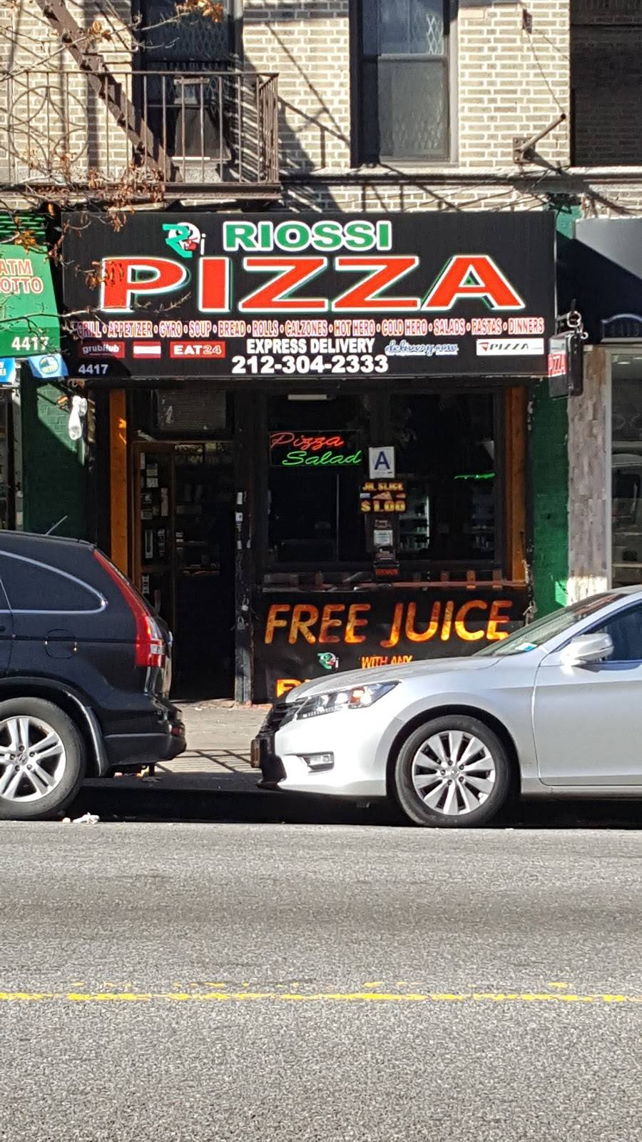 Riossi Pizza | meal delivery | 4417 Broadway, New York, NY 10040, USA | 2123042333 OR +1 212-304-2333
