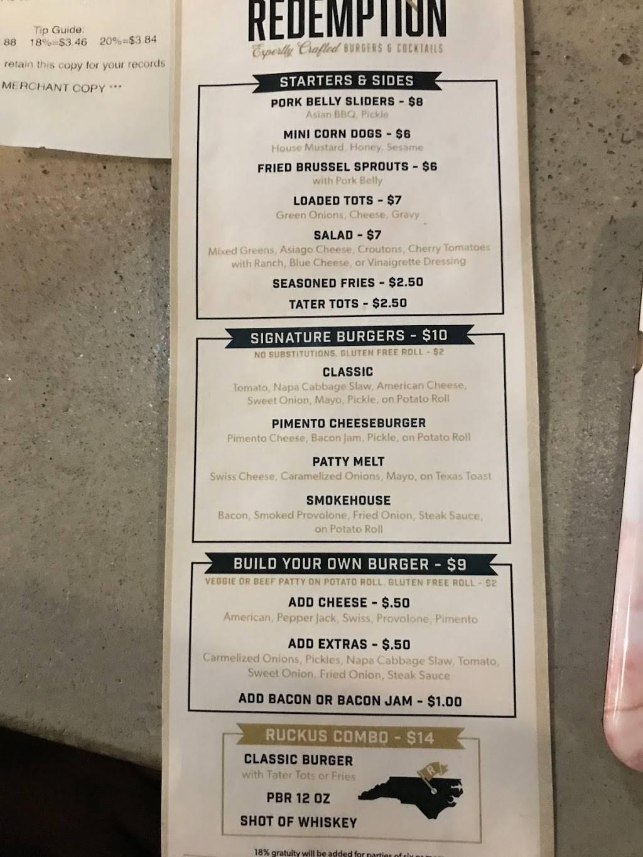 Ruckus & Redemption | restaurant | 220 Barnes St S Suite C, Wilson, NC 27893, USA | 2526741567 OR +1 252-674-1567