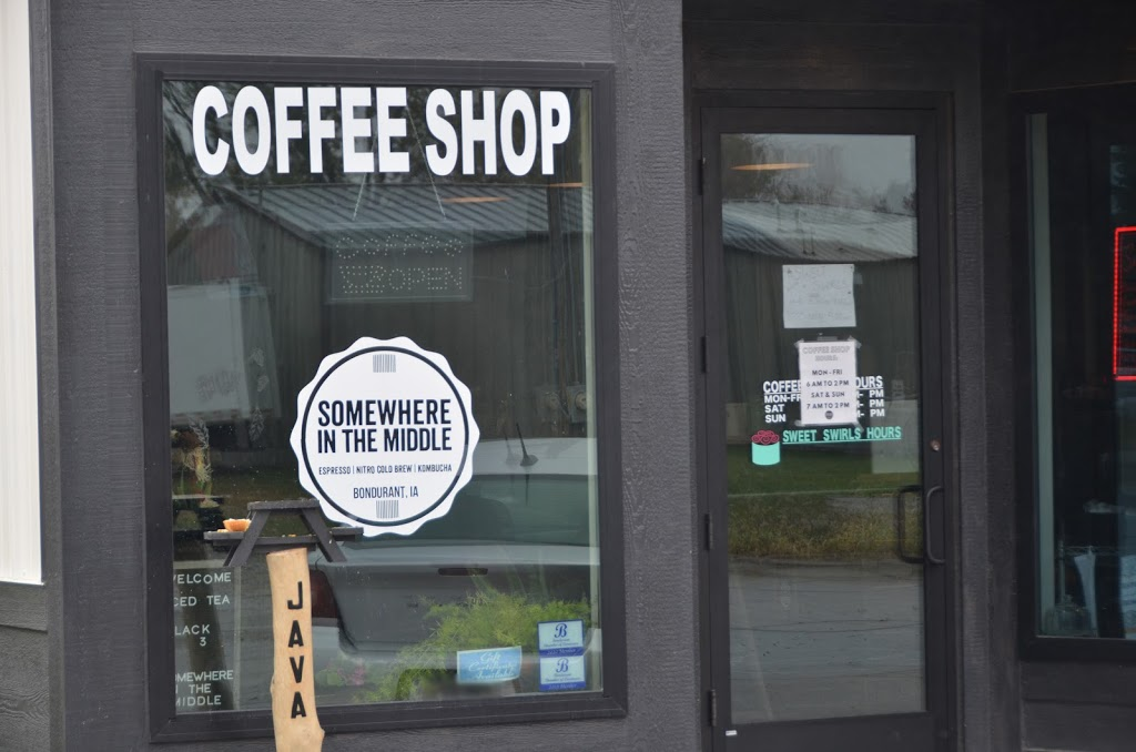 Somewhere In The Middle Coffee Shop | cafe | 106 1st St SE, Bondurant, IA 50035, USA | 5159678884 OR +1 515-967-8884