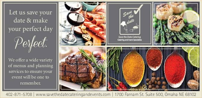Save the Date Catering | restaurant | 1902 Betz Rd, Bellevue, NE 68005, USA | 4025044466 OR +1 402-504-4466