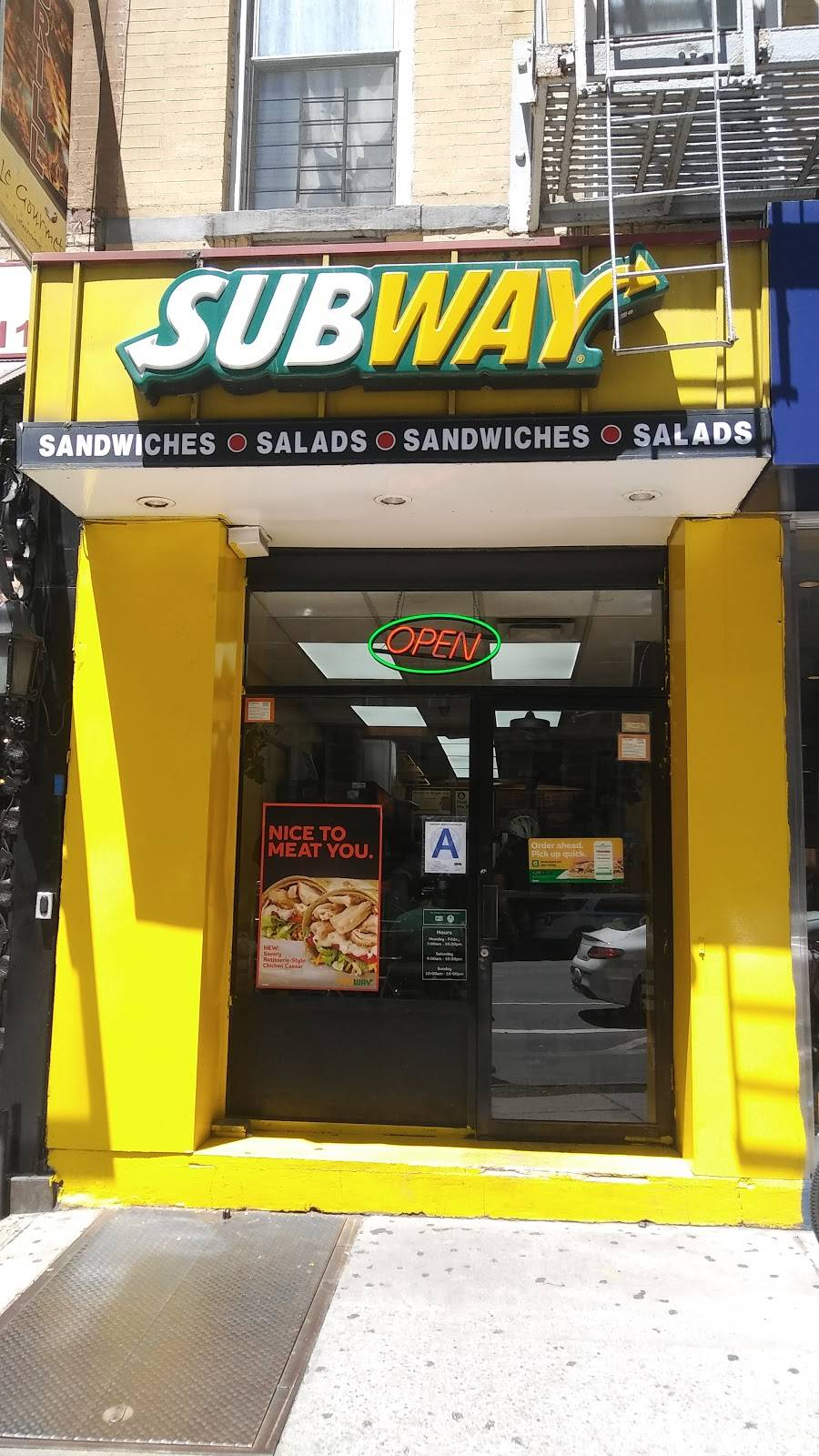 Subway Restaurants | restaurant | 1269-1271 1st Avenue, New York, NY 10065, USA | 2126286358 OR +1 212-628-6358